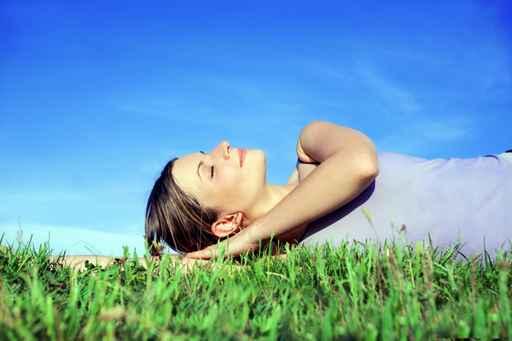 Young beautiful girl relaxing