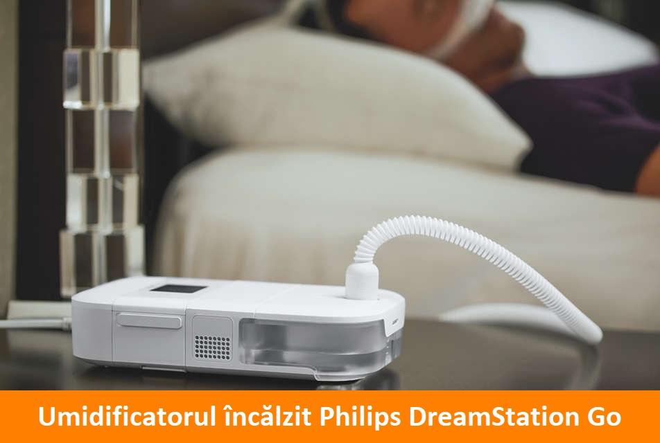 Aveți nevoie de mai mult confort în terapia CPAP? Încercați Umidificatorul încălzit Philips DreamStation Go.